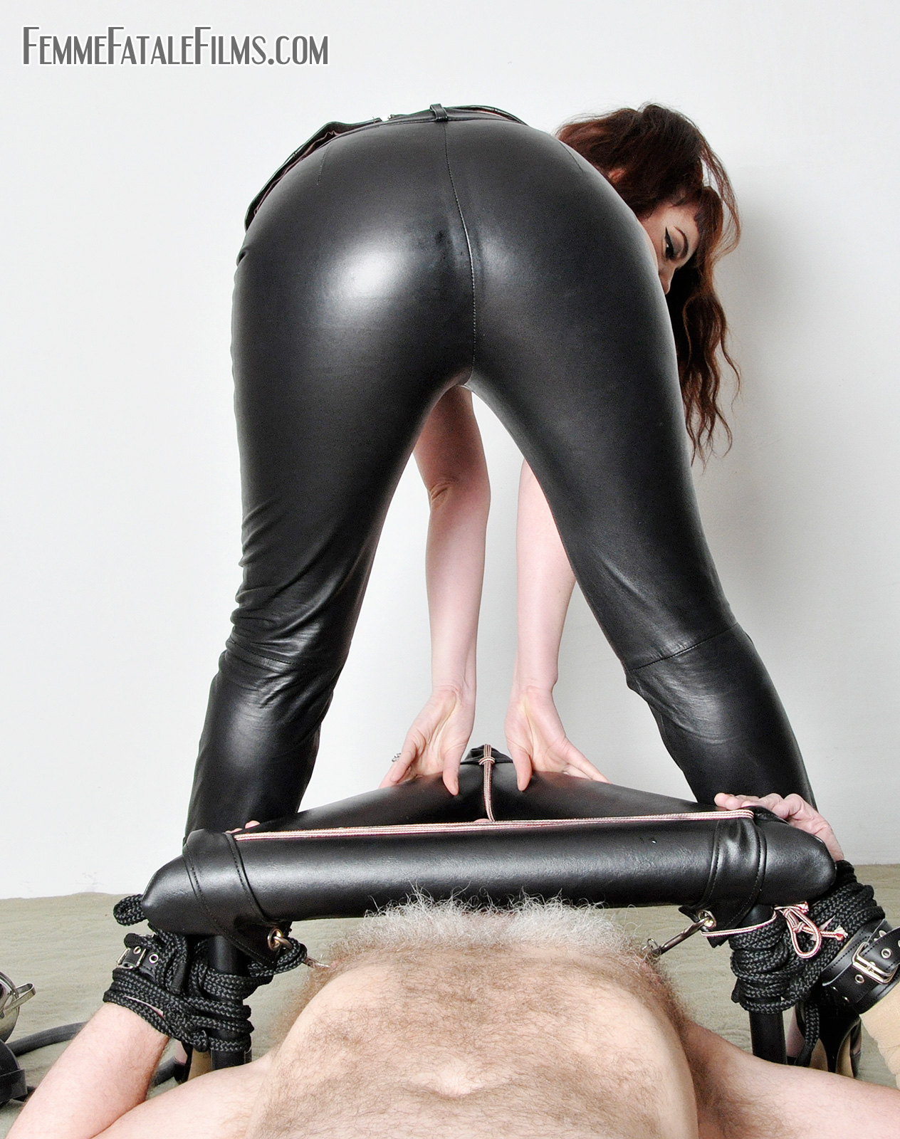 Leather Ass Smother fem dom face sitting and queening