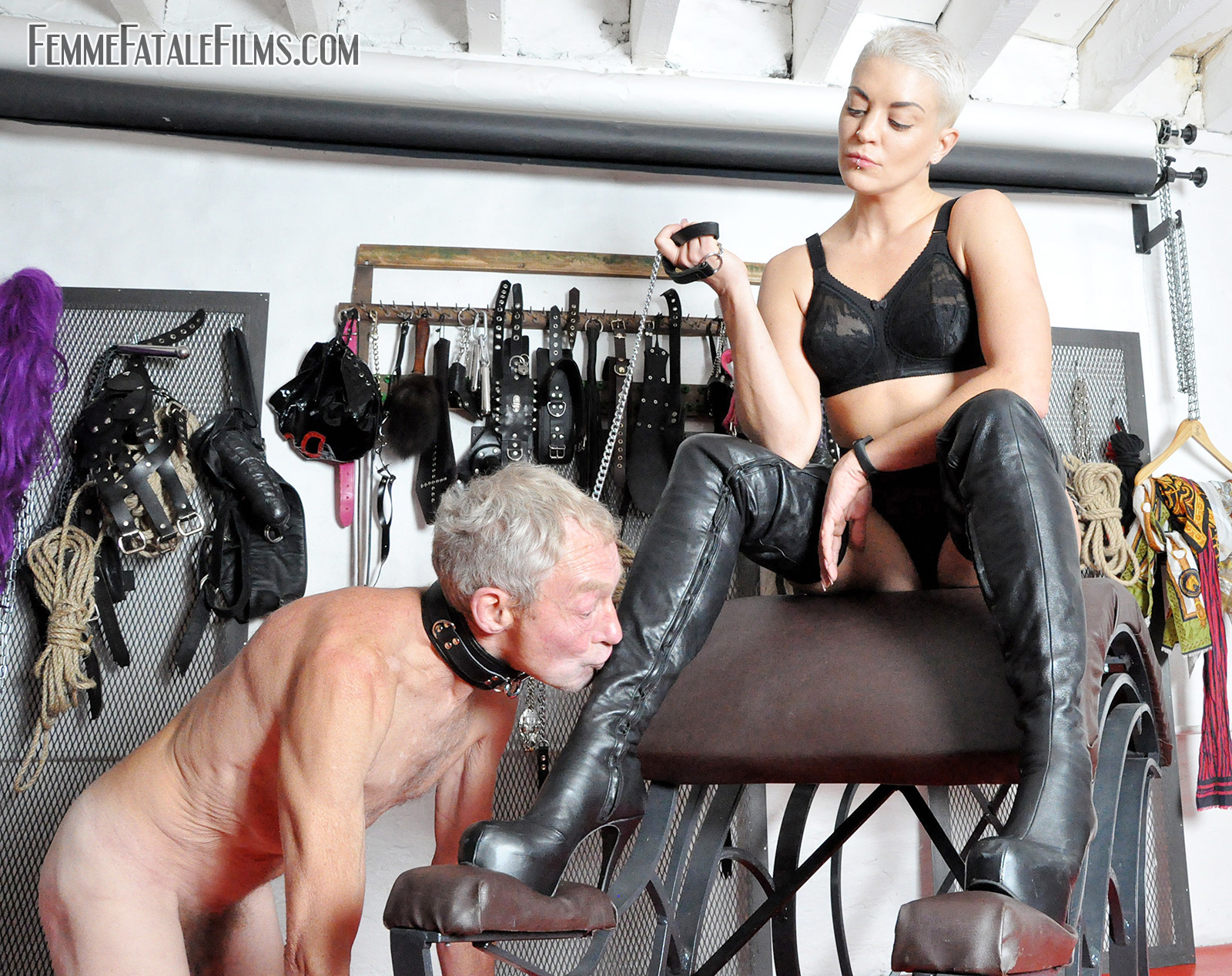 Worshipping His Mistresses Boots