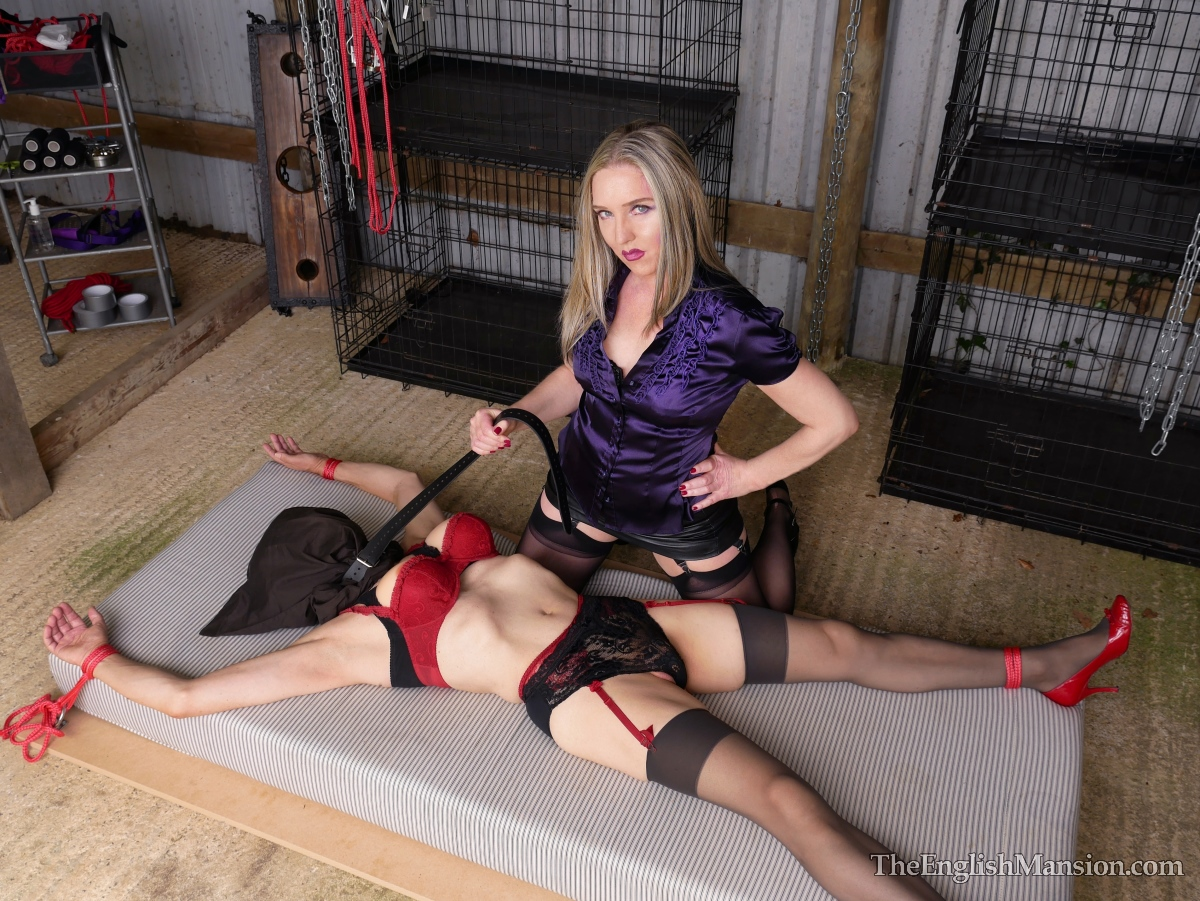 Blonde Milf in Bondage