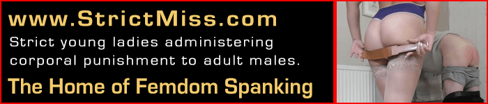 Strict Miss Fem Dom Spanking Banner