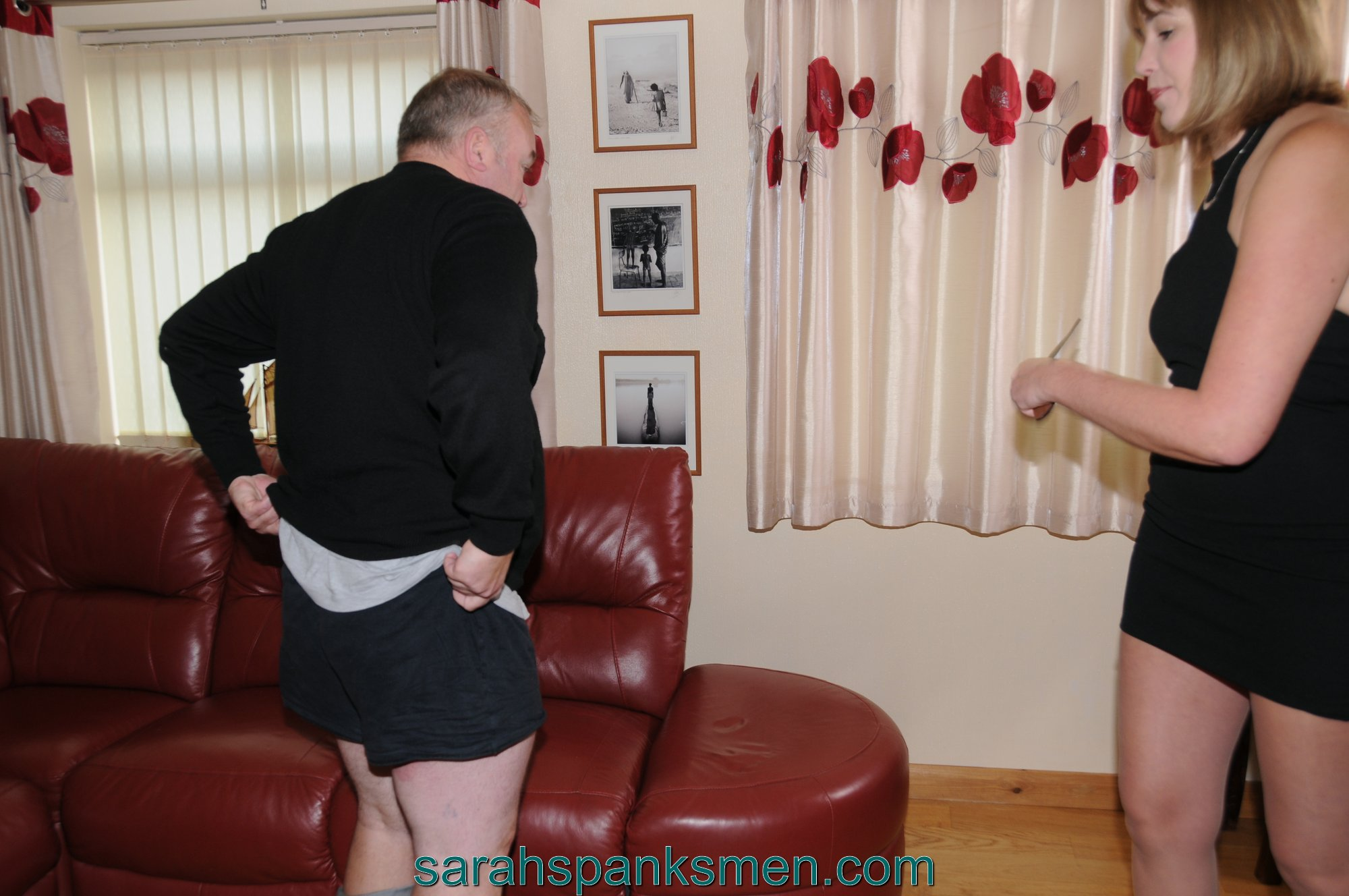 Spanked by Sarah before a Trip to the Theatre