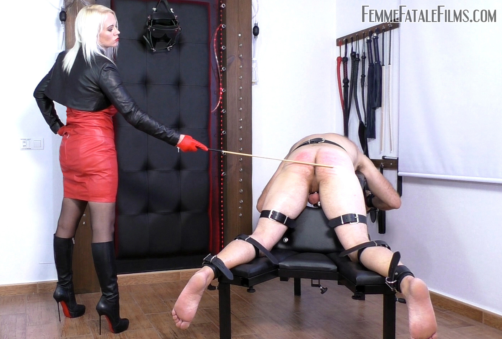 Featuring Divine Mistress Heather. Breaking slaves in to new experiences is always a pleasure of mine, especially when the experience is an extreme one! In this session, I intensify the suffering for one of my personal slaves with the use of several whips, single tails and a beautiful and vicious cat-o'-nine. When it came to the cane, a form of treatment this slave especially hates, I decided to give him the three dragon treatment! Three brutal dragon canes of differing density to ensure he got a good range of agonising sensations.
