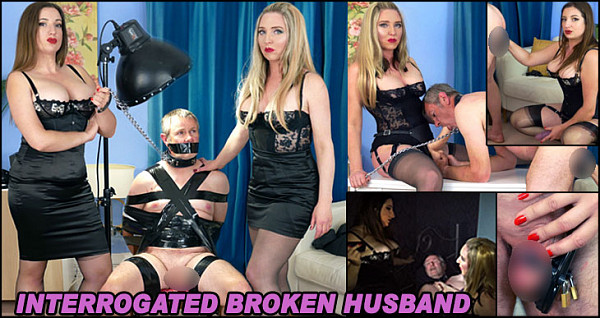 When John is woken from his sleep by two beautiful strangers, dragged into the his lounge and interrogated about his relationship with his wife, he knows it is going to be a very unusual day! They explain to him that they have been hired by his long suffering wife, who has finally had enough of his lazy, selfish ways and has secretly gone away on holiday with her new lover. The husband is shocked and incredulous but after some more torment from the strict ladies, he realises his life will never be the same again, especially when they both put on their massive strapon dicks, ready to ruin and break him.