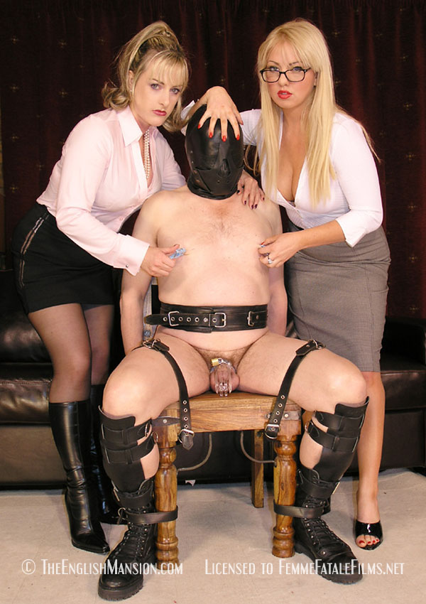 Slave boy and girl training