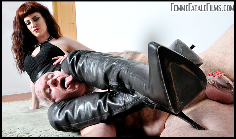 The leather booted Miss Zoe knows exactly how to subdue her male slaves and if she's not using her exemplary wrestling skills to overpower them, she's extremely adept at securing them in inescapable bondage!