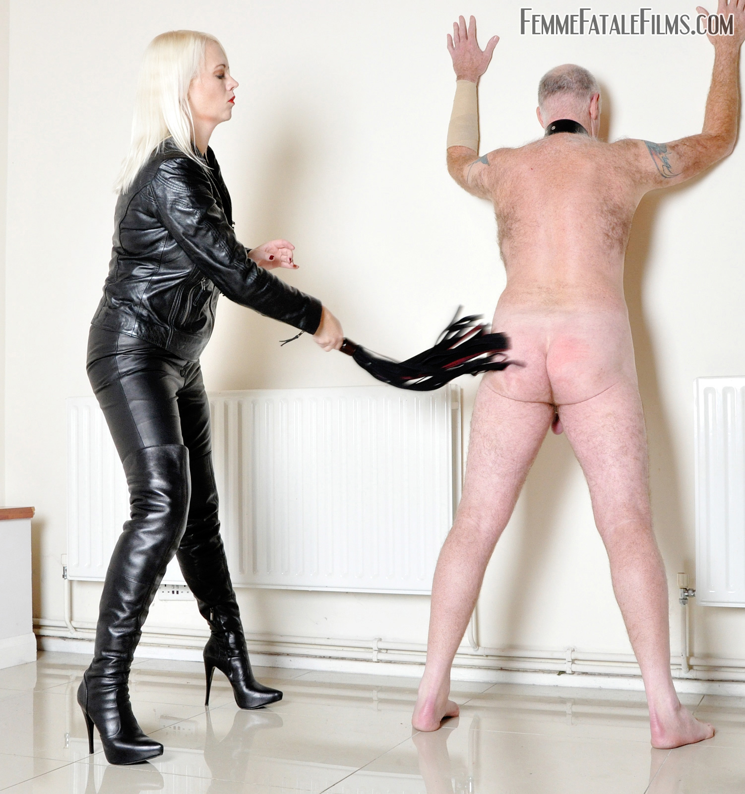 Leathered Up For Lashing with Divine Mistress Heather