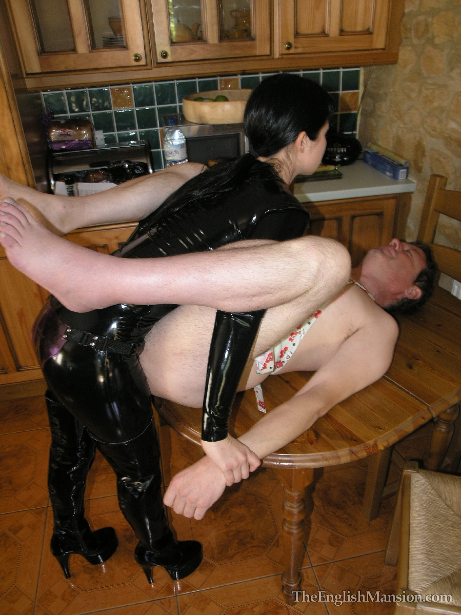 Pegged by his wife