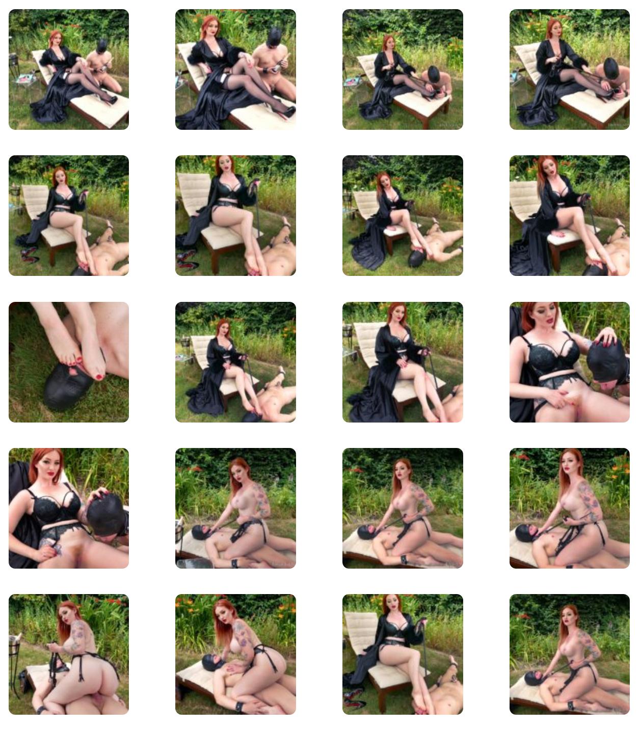 Fem Dom Garden Sex Servitude with Zara Du Rose