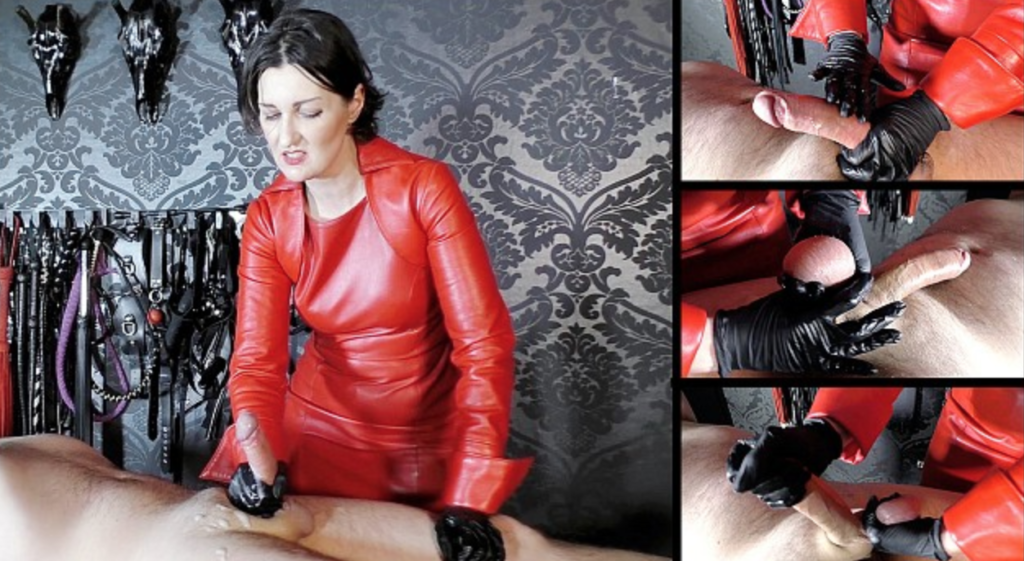 Featuring Lady Victoria Valente. Lady Valente decided this slave needed to be milked hard and fast. What she also decided to do was carry out the sperm extraction in an extremely rough way! Grabbing his balls and twisting them as she yanked on his cock, faster and faster until he had no choice but to shoot his load.