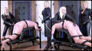 Featuring Divine Mistress Heather, Mistress Johanna. Mistress Johanna's slave has been nothing but a disappointment of late, so it's time to remind him of the repercussions for such slack and offensive behavior... Spanking is often a warm up for implement use, but the spanking dished out in this instance was part of the punishment with heavy slaps from both Mistresses, swiftly followed up by extremely hard strokes of a brutal dragon cane.