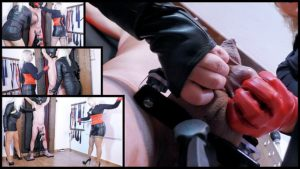 Featuring Divine Mistress Heather, Mistress Johanna. The unfortunate slave was caught wanking after he had been explicitly told not to without permission. His cock and balls are not his to play with! A harsh punishment was therefore due and with his cock and balls clamped securely on the stand, the extreme CBT began! His balls were crushed in their gloved hands and heavy whips, including a vicious bull whip wielded expertly and accurately by Mistress Johanna prove to give him a long lasting reminder of the penalty for such disgusting and disobedient behavior!