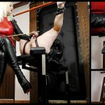 Featuring Divine Mistress Heather. Letting me down in any way is bad enough, but embarrassing me in public necessitates an extra special level of punishment, one which this slave had never received before... so trussed up in a straight jacket, with his legs spread and held aloft, I gave him an experience of a lifetime. After a thorough verbal dressing down, I inflicted numerous cane strokes on his testicles and feet. With a particularly high pain threshold, it was always a challenge to make this slave truly suffer, but on hearing his screams of agony, it was finally music to my ears!