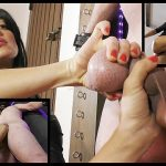 Featuring The Hunteress. The slave doesn't seem to measure up to the Hunteress's high standards and expectations, however she gives him a fighting chance to redeem himself... His cock is not only lacking in size but rigidity too, so what else can she do but verbally humiliate and then punish his useless sack and impotent cock severely! She twists, stretches, kicks and punches his bollocks as hard as she can, periodically giving him the chance to grow his appendage with some encouraged wanking, but sadly, it all looks too little... too late for him.