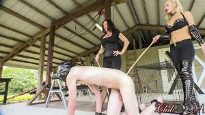 Bare Bottom Caning by Venus Devine and Kylie